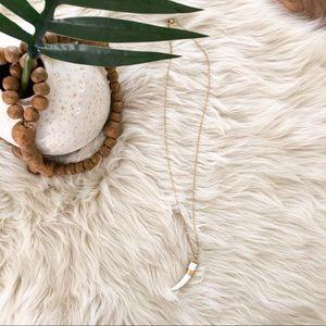 Stella & Dot • White Horn Necklace